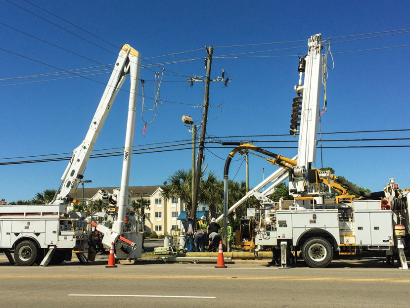 Auto Accident Cuts Power To Portion of Carolina Beach Monday Morning