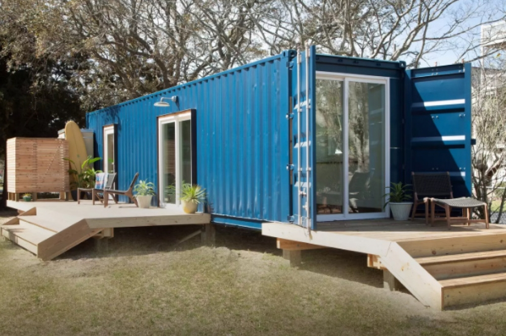 featured one of two homes recently built in carolina beach using shipping containers they are geared - Homes Built With Shipping Containers