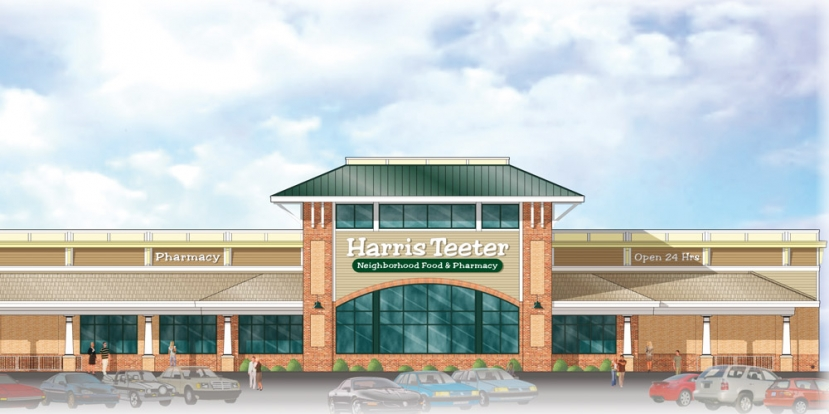 (Pictured Above:) A rendering of a proposed Harris Teeter store and Fuel Station at 1000 North Lake Park Blvd. The Council approved a permit modification for the project earlier this year. The project is expected to begin in 2018.