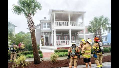 Fire In Carolina Beach Tuesday During Storm Likely Started By Lightning