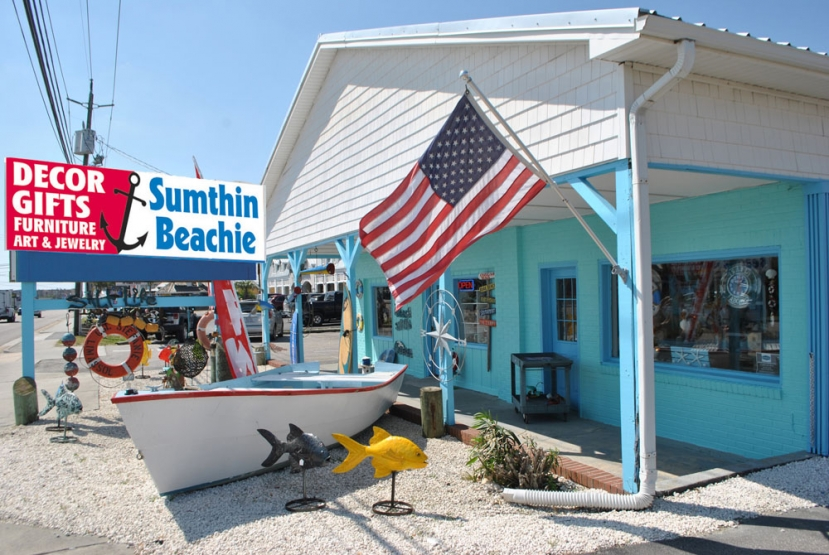 Sumthin Beachie is located at 809 North Lake Park Boulevard, in Carolina Beach and open daily from 10:00am until 6:00pm. For more information, call Sumthin Beachie at (910) 619-9044 or email them at sumthinbeachie@portcitymail.com. You can also check out their website at www.sumthinbeachie.com, Follow them on Facebook for updated arrivals and sales.