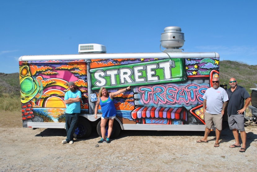 "To learn more about Street Treats and their eye-catching food truck that pairs up with an amazing menu, contact one of their friendly, knowledgeable  representatives to assist you by dialing (910)232-7551 or (540)819-1351. Follow them on instagram at ""Port City Street Treats"" or on Facebook at Street Treats."