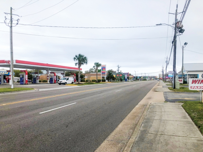 North Lake Park Blvd in Carolina Beach on Tuesday March 31st. While cars occasionally traveled along the main thoroughfares in Carolina Beach, traffic was noticeably vacant compared to previous years at the same time. The obvious cause is an order for hotels and short term rental closures during the COVID-19 pandemic.