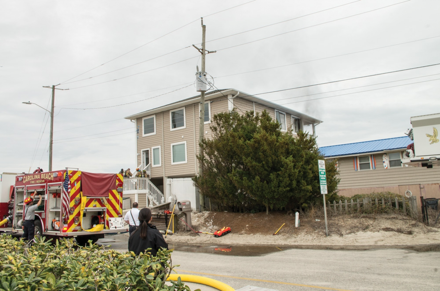 Carolina Beach Fire Department Prevents House Fire Monday Afternoon