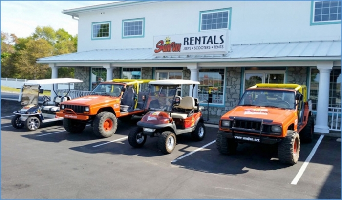 SunFun has Golf Cart Rentals, Sales and Customization