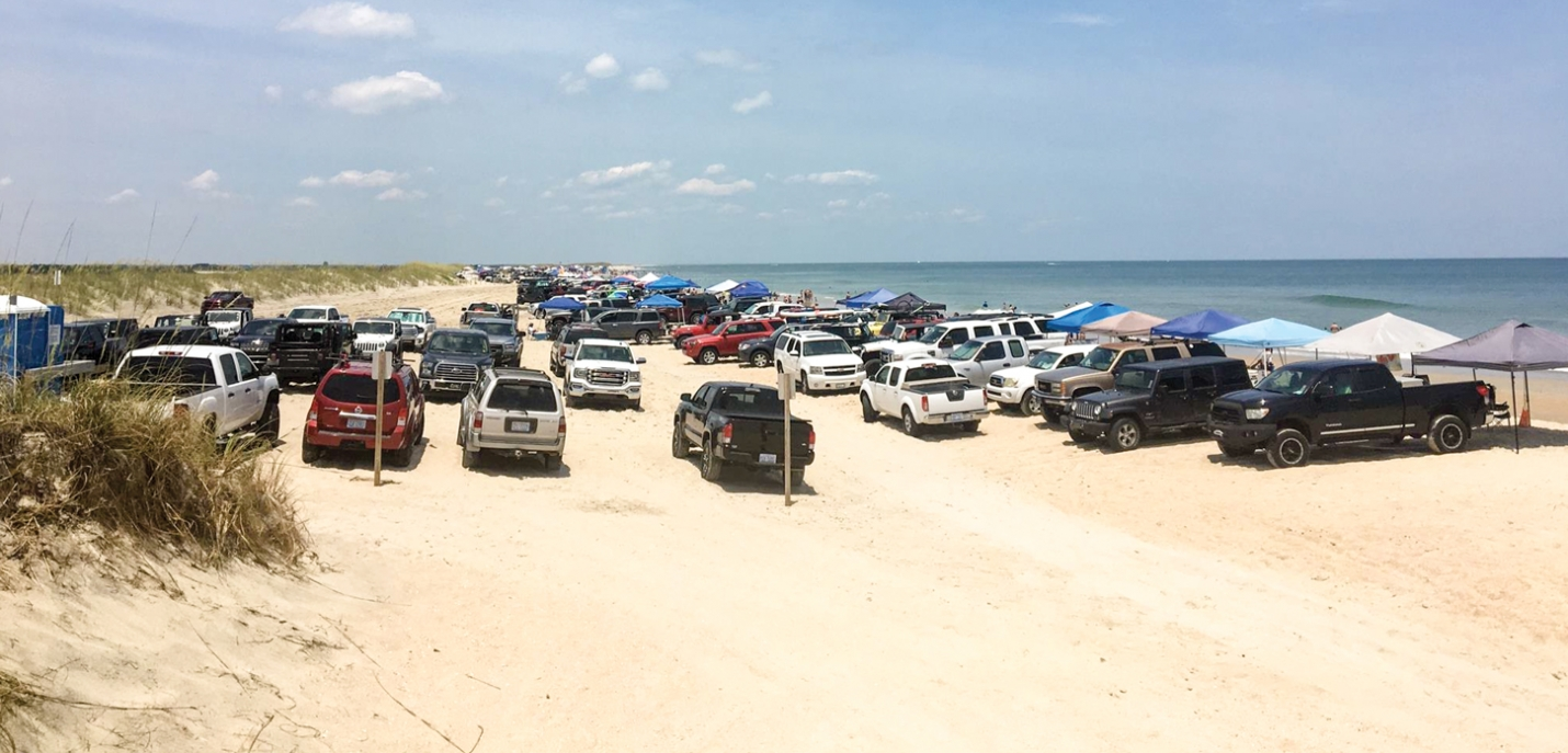If you are planning to visit Freeman Park on the North End of Carolina Beach, call ahead first (910-458-2999). The Town is temporarily closing the park at times to prevent overcrowding after beach erosion made nearly half of the park inaccessible for driving and camping.  Now the Town is considering refunds for annual passes.