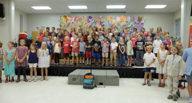 Second Grade Students Performed for Families and Friends