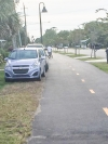 "Jim N Wendy Williams posted a comment on the Town of Carolina Beach Facebook page stating, ""This is why we spent so much money on a bike path so compact cars have there own lane and parking! Such a waste!"""
