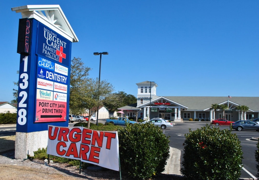 Med First Urgent Care and Family Practice is located at 1328 North Lake Park Boulevard in Carolina Beach next to Port City Java. They are open Monday through  Friday from 8:00am until 6:00pm and Saturdays from 8:00am until 5:00pm and can be reached by calling (910) 707-1720. For online scheduling visit ThinkMedFirst.com!