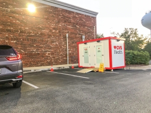 The COVID-19 rapid test facility at the CVS Pharmacy in Carolina Beach on Tuesday December 1st.  One of many locations at area pharmacies as well as scheduled County test sites throughout New Hanover County.