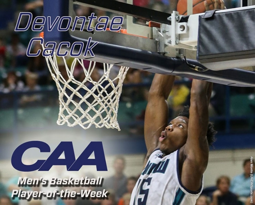 CAA Honors UNCW's Cacok For 2nd Time