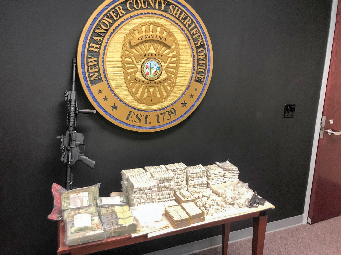 The New Hanover County Sheriff's Department recently arrested two people following a two-month investigation and discovered 39,000 bags of heroin, cocaine, MDMA, weapons and cash.