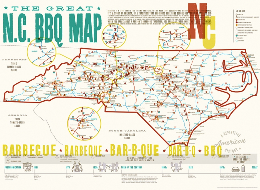 Spotlight On Coastal Cuisine: Great NC BBQ Map Features A&G BBQ