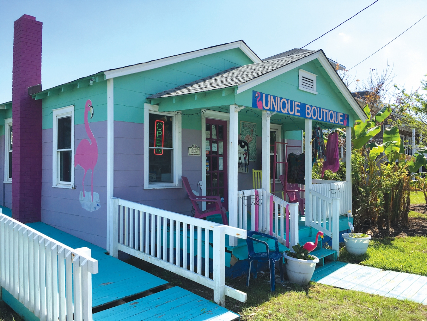 The Unique Boutique is located in Carolina Beach at 205 South Lake Park Boulevard in Carolina Beach.  You can find out more about the  Unique Boutique on their Facebook page! You can reach the Unique Boutique with any questions or inquiries you may have by calling (910) 458-4360.
