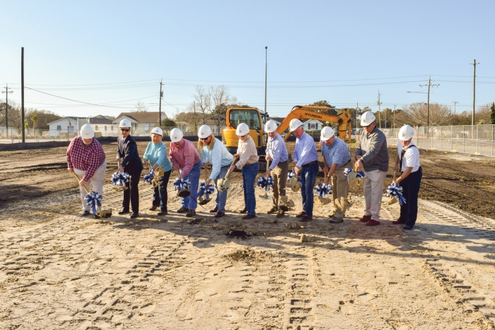The Town of Kure Beach held a ground breaking ceremony Tuesday morning, February 20th, for a multi-million dollar project to renovate their existing Town Hall, Police and Fire facilities. Members of the Town Council, the architect, contractor and project manager used gold color shovels to break ground. See report below...