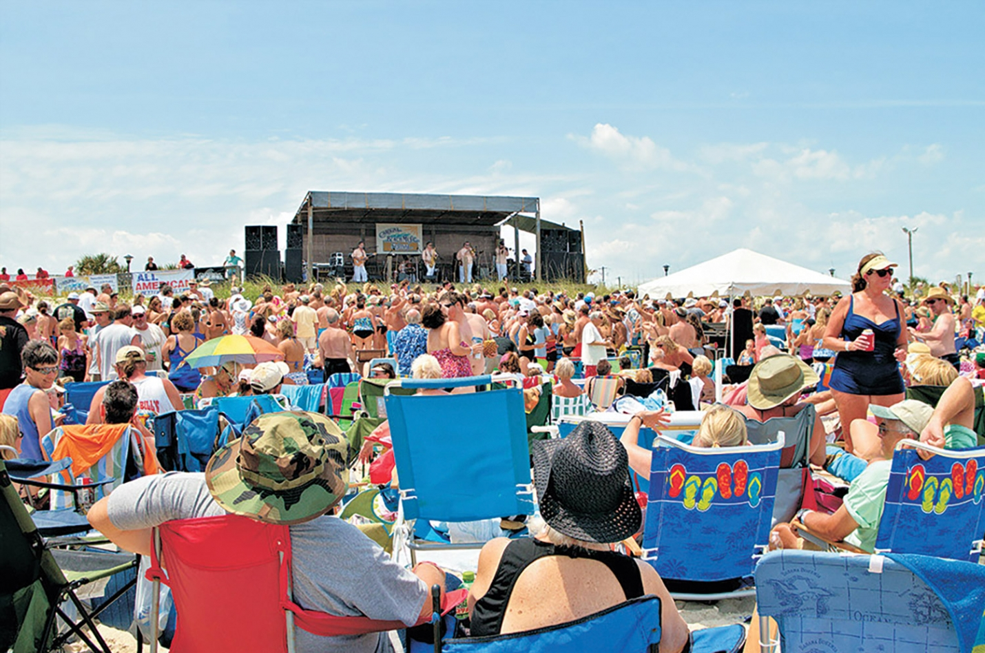 The 33rd Annual Carolina Beach Music Festival will take place on the beach front at the Boardwalk on Saturday June 2nd featuring Band of Oz, Black Water Rythm & Blues Band and Jim Quick and Coastline. Tickets to one of the longest running beach music festivals in the United States are $25 in advance and $30 at the gate. Visit http://www.pleasureislandnc.org/ for more info and ticket sales.