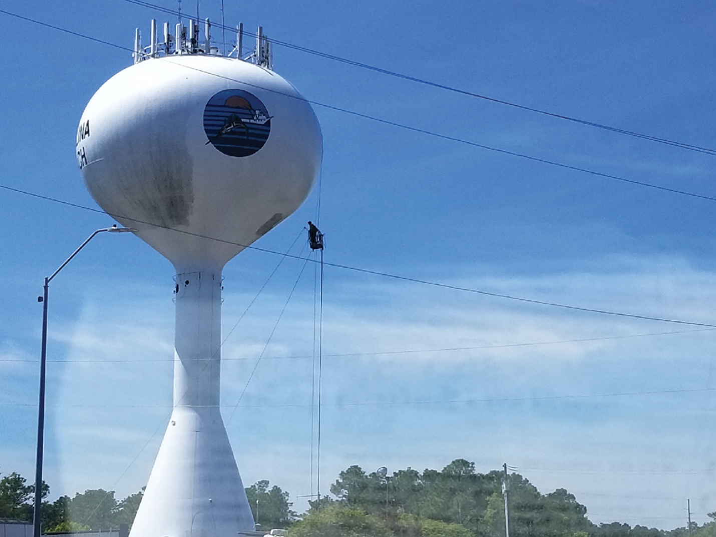 Water Tower Cleaned For Summer Season
