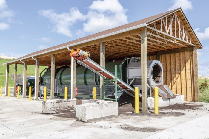 The composting program consists of an innovative mechanical in-vessel system designed to eliminate odors and wastewater issues that are typically associated with composting operations.