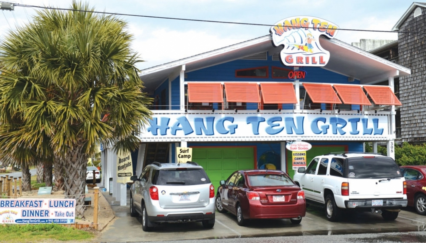 Hang Ten Grill: Serving Lunch And Dinner 7 Days a week, Breakfast on Weekends