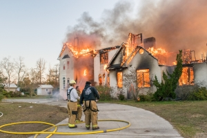 The Carolina Beach Fire Department joined with numerous other departments from North and South Carolina to conduct a live burn of a large house on Cape Fear Blvd on December 7th.