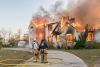 The Carolina Beach Fire Department joined with numerous other departments from North and South Carolina to conduct a live burn of a large house on Cape Fear Blvd on December 7th.  Recently the Town's ISO rating was lowered from a 3 to 2 rating.