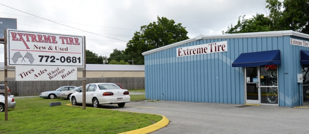 Extreme New and Used Tires is located in Wilmington at 2250 Carolina Beach Road (Pictured Above) just across the street from Legion Stadium and their second location is at 3722 Market Street They are open on Mondays through Fridays from 8 a.m. until 5 p.m. and on Saturdays they open at 8 a.m. and close at 1 p.m. (the Market Street location closes at noon on Saturdays.)  For more information, call 910-772-0681 (Carolina Beach Road) or 910-777-2637 (Market Street).