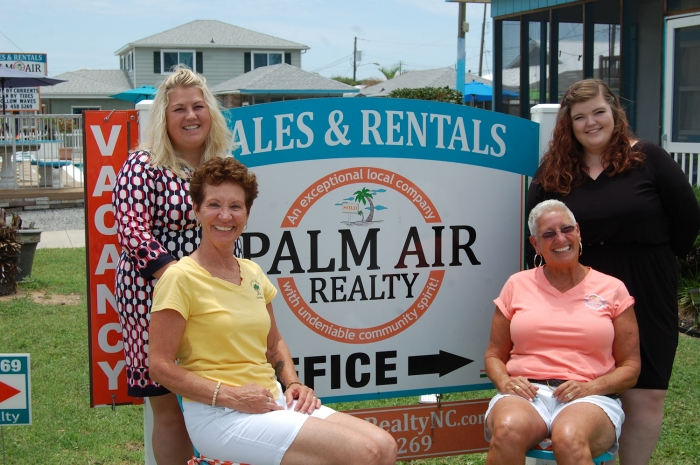 Palm Air Realty ™ is open year round and located at 133 Fort Fisher Blvd. North, Kure Beach. For details about buying or selling real estate, property management or rentals contact 910-458-5269.  Office hours are from 9 a.m. to 5 p.m. To get an overview visit the website at www.PalmAirRealtyNC.com . Like them on Facebook facebook.com/PalmAirRealty.