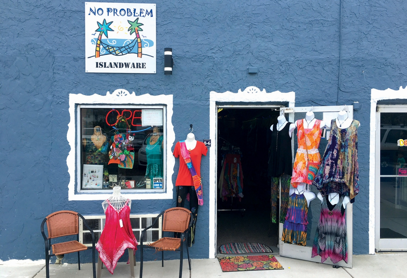 No Problem Islandware is located on the new Carolina Beach Boardwalk near the gazebo.  They are open seven days a week and can be reached by calling (910)458-5818.