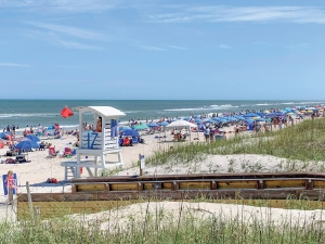 Local governments began easing stay-at-home restrictions earlier this month. People headed for the beach for the Memorial Day weekend, and the previous weekend, to enjoy the beaches and the reopening of area restaurants.  Lifeguards on Pleasure Island answered around 86 rescue calls mostly due to Rip Currents.