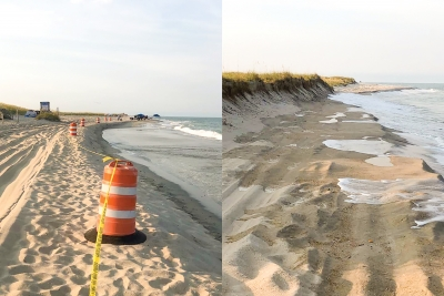 If you are planning to visit Freeman Park on the North End of Carolina Beach over the July 4th, holiday weekend, call ahead first (910-458-2999). The Town is temporarily closing the park at times to prevent overcrowding after beach erosion made nearly half of the park inaccessible for driving and camping. (Photos: Joe Benson)