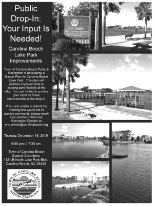 Carolina Beach Lake Park Improvement Project Meeting Dec. 19th
