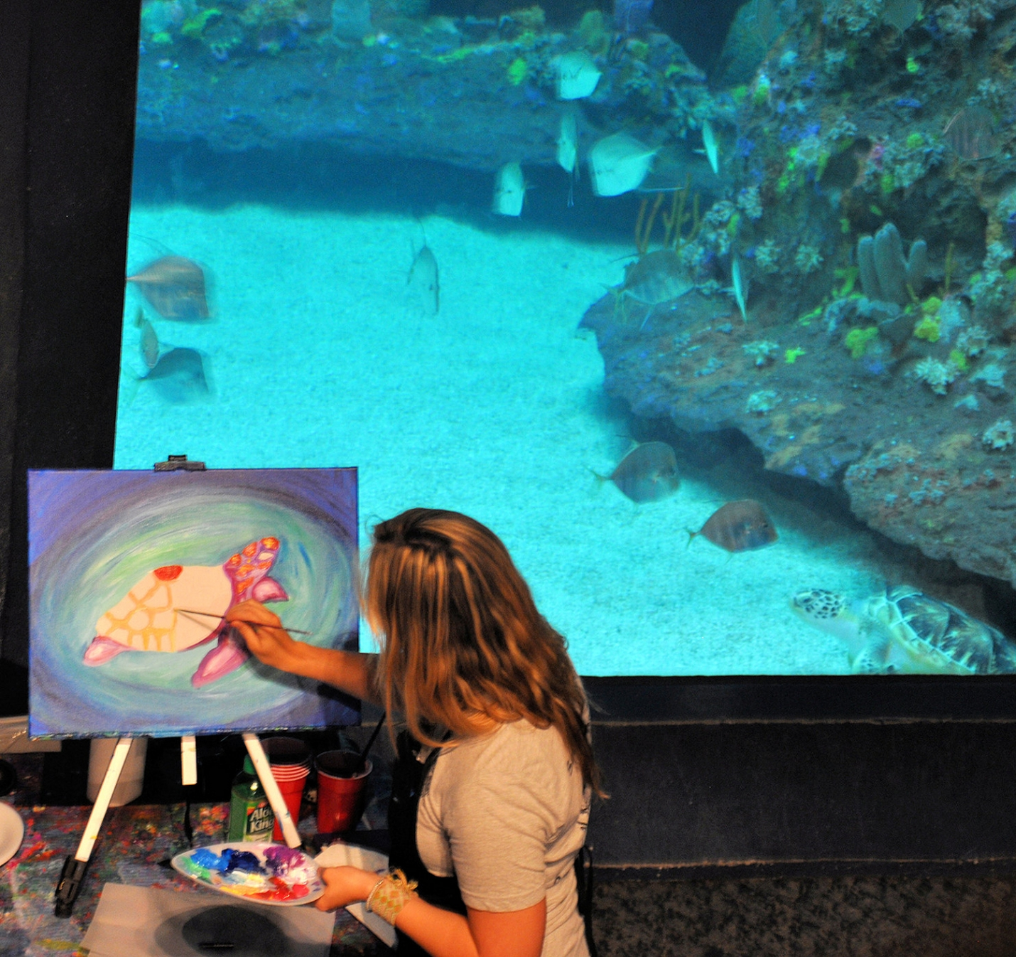 Family Paint Night at the Aquarium June 13th